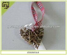 rattan crafts heart shape Christmas ornaments