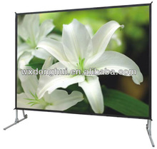 Fast fold projection screen with foldable aluminum frames and legs