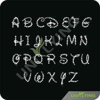 Stick on rhinestones crystal letter