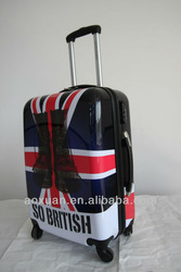 ABS print luggage abs printed hard shell luggage printed hard luggage