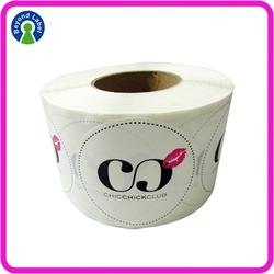 Original Self Adhesve Round Label Stickers , Personalized Label with Customized Design