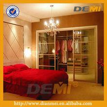 2013 Hot sale walk-in wardrobe with glass sliding door