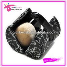 Natural makeup blush brush ,kabuki brush set with cylinder