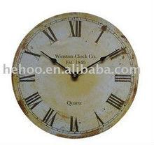 Antique mdf Wall clock,retro vintage style MDF clock wall