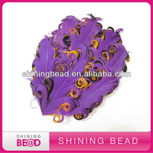 three colors curly feather pad