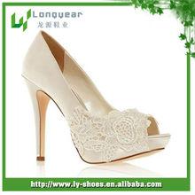 2014 Customize Handmade High Heel Wedding Shoes,Lace-up Wedding Shoes High Heel