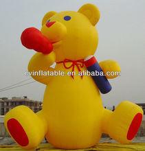2014 customized inflatable cartoon/inflatable bear advertising/inflatable model for advertising