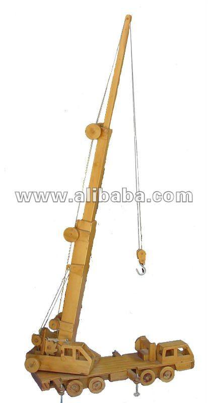 Wooden Model Cranes Wooden Model-toy Mobile Crane