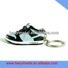 Custom metal 3d nike shoe shaped keychain