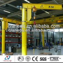 2013 promotion New design swing jib crane floor mounted electric hoist jib crane