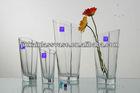 slanted clear glass vase