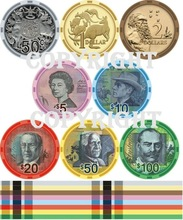 Currency 10g Ceramic Poker Chips