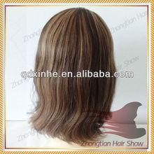 Virgin Mongolian Hair Jewish Ponytail Wig