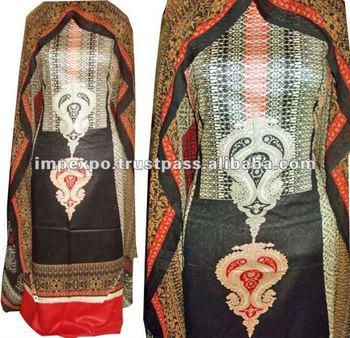 Ladies Designerwear Lawn Suit with Chifoon Dubatta ( Stylish Gala Design & Border Style Design )