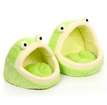 NEW Cute Cozy Soft Luxury Cartoon Frog Pet Beds House For Dog Puppy Cat
