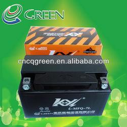 Kaiyang agm mf battery suzuki three wheel motorcycle,12v 7ah suzuki motorcycle battery(6-MFQ-7L)