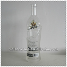 CUSTOM MADE GLASS LIQUOR BOTTLE
