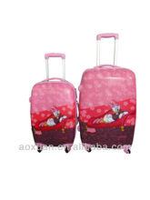 school trolley bag cute carton luggage bag ABS/PC trolley luggage