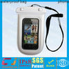fashional waterproof pvc bag for smart phones with neck strap for outdoor swimming