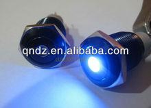 QN16-C3 16mm 24V blue Dot LED Metal Black Aluminum FINISHED push button 1NO1NC
