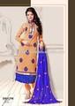 Punjabi matériel robe - gros indien pakistanais lisse large anrkali robe - indienne broderie travail semi point de robe