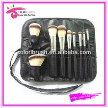 Custom logo synthetic makeup brush set .travel brush kit