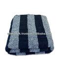 Navy Blue Strip Bath Towel
