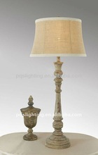 popular wooden table lamp with antique style