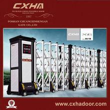 Al-alloyed automatic folding sliding gate design