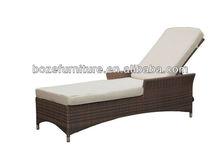 Wicker rattan sun bed outdoor/ furniture garden lounger
