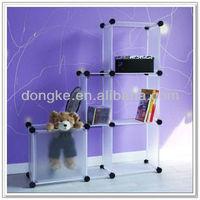 plastic clothes diy storage shelf