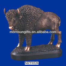 Resin Handmade Animal Figurines,Buffalo Sculpture