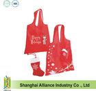 Gift Pouch / Christmas STOCKING FOLDING TOTE Eco Reusable Shopping Bag Tote Folding Foldable Bag