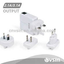 china wholesale 5V 3.1A home wall charger with charger adapter
