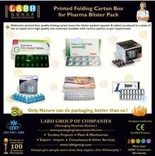 Printed Folding Carton Box for Pharma Blister pack