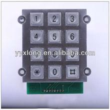 Arabo tastiera chiave di sicurezza, chiosco della tastiera 12 pulsante