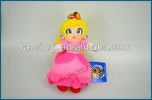 "NEW Super Mario Bros 7.8""/20cm Princess Peach Plush Figure Doll"