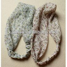 fashion floral hair accessories cute cheap hair band printing head wrap for girls