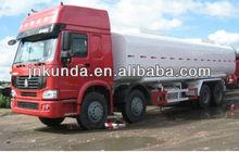 HOWO oil tanker semi- trailer fuel tankers for sale/ fuel tanker low price