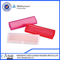clear plastic glasses cases