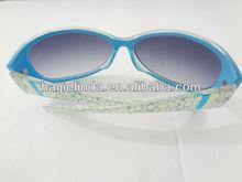 Customized sun glasses neon rubber vintage retro sunglasses