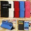 Phone case phone accessories Crocodile leather wallet case for samsung galaxy s4 mini for galaxy s4 mini case