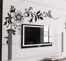 Black flower Wall Art Decor home decor