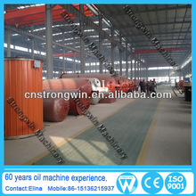 waste tyre oil refinery machine with quality control