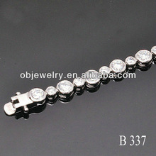 Silver and brass material Tennis 925 Silver Fashion Bracelet