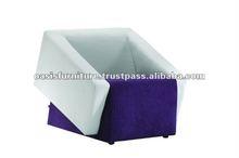 American Style One Seat Modern Fabric Corner Sofa