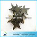 estrella de montantes de metal para el cuero