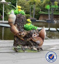 Ardilla resina jardín venta al por mayor arcilla planta ollas