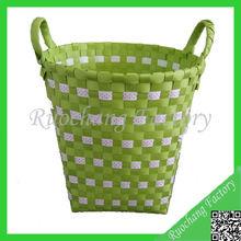 Handled Plastic Laundry Basket ,PP Small Plastic Basket