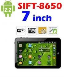 SIFT-8650 Tablet PC Android 2.2 3G WiFi 7 inch TFT Webcam